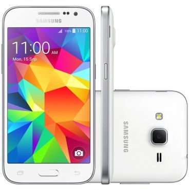 Celular Smartphone Samsung Galaxy Win 2 Duos TV G360 Branco - Dual Chip, 4G, TV Digital, Tela 4.5, Câmera 5MP +Frontal 2MP, Quad Core 1.2Ghz, 8GB