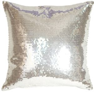 Silver Sequins Accent Pillow from Pillow Decor: