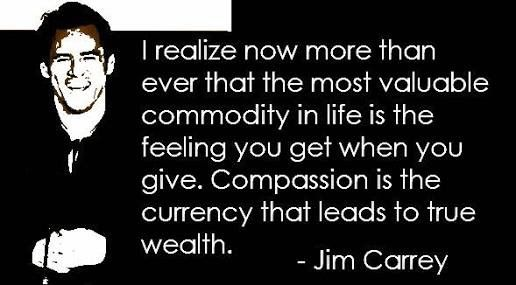 Compassion is the key to a better world and it starts with each one of us.