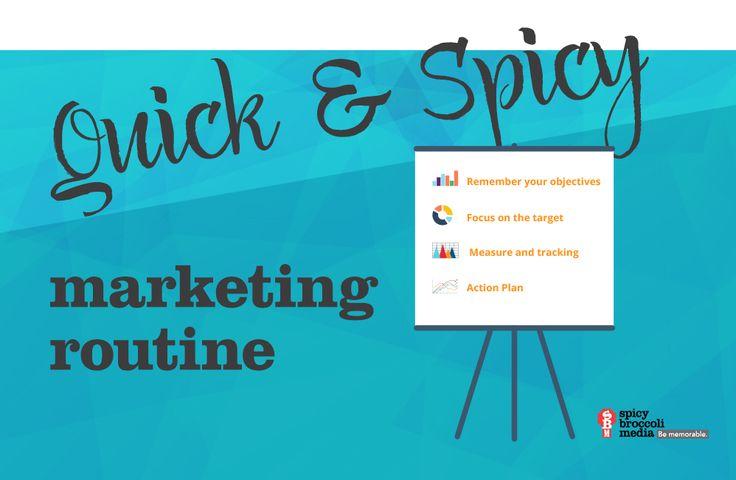 Spicy Broccoli Marketing Routine- Blog Post https://spicybroccoli.com/blog/quick-spicy-marketing-routine/
