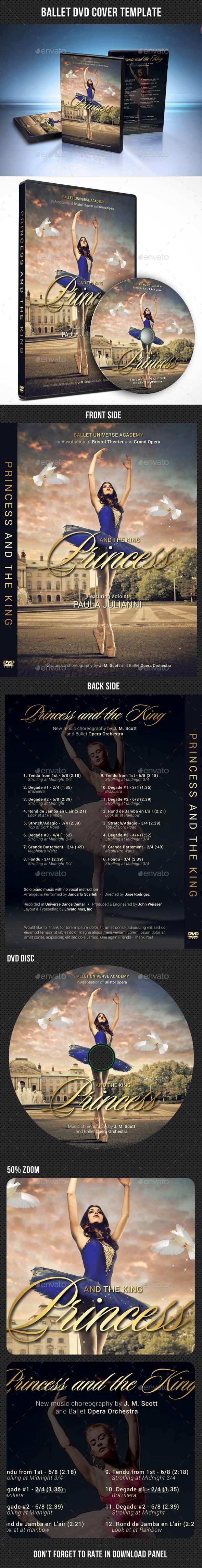 Ballet DVD Cover Template - #CD & DVD Artwork Print Templates