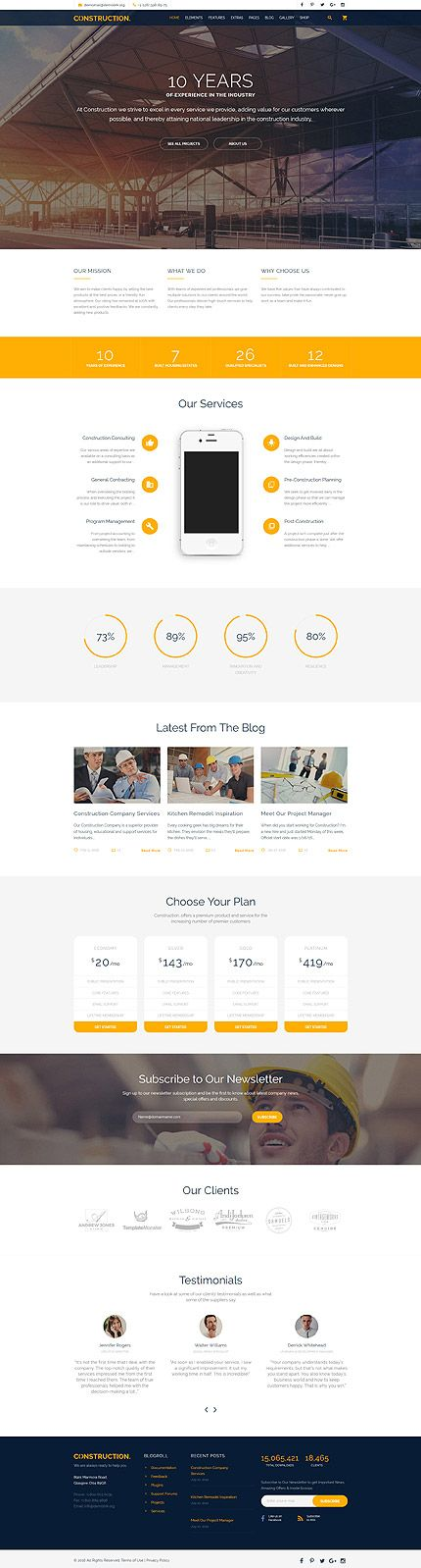 Template 58533 - Construction Building  Responsive Website Template                                                                                                                                                                                 Más