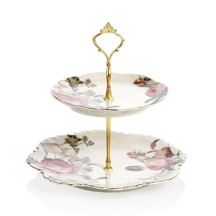 Bernardo Katlı Kurabiyelik / Platter with Storey #bernardo #cookie #cupcake #kurabiye #teatime #tabledesign