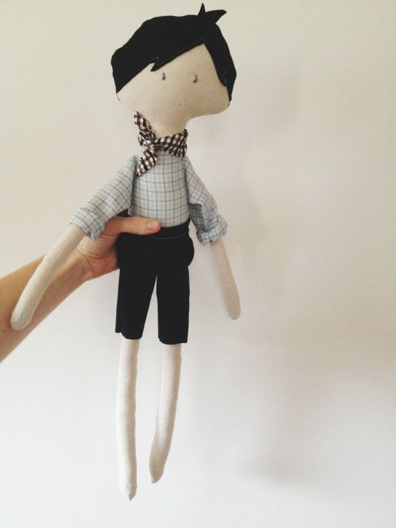 Oliver - a one of a kind heirloom quality rag doll