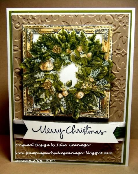CC511_CCC15 Merry Christmas Wreath by Julie Gearinger - Cards and Paper Crafts at Splitcoaststampers