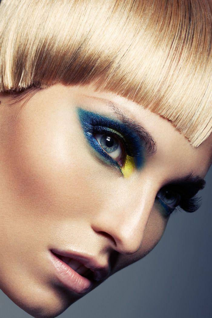 Blue and yellow eyeshadow