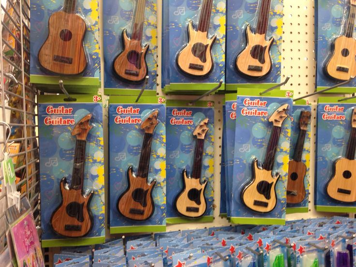 Guitars from the Dollar Tree, perfect for my daughter's American Girl Doll. So excited for this extra stocking stuffer find. They are not the highest quality, but will be a fun extra. Found 12/17/2015.