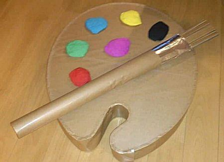 Schilderspalet -- een leuk knutselwerkje om als surprise te maken voor de kunstschilder in de familie