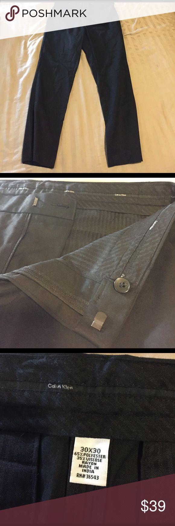 Calvin Klein Slim fit black dress pants Black Calvin Klein slim fit dress pants like new barely worn, size men's 30x30 Calvin Klein Pants Dress