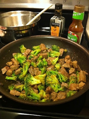 Szechuan Beef  Broccoli. This is one of my all time FAVORITE healthy recipes! We made it the other night. We love it! It is from the Biggest Loser Family Cookbook. So good and so easy!