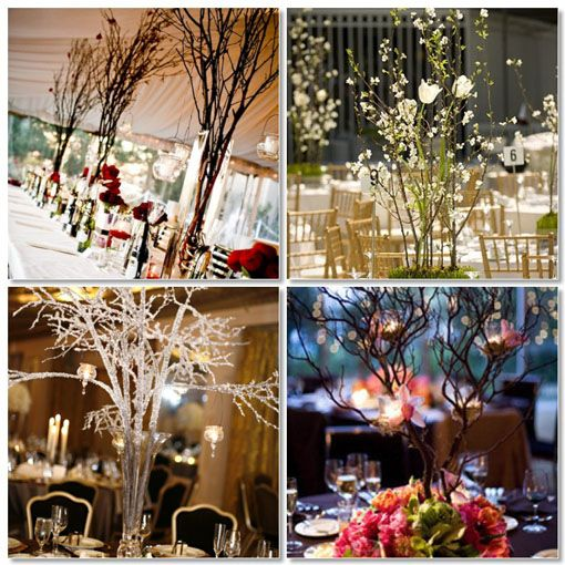 231 best wedding ideas images on pinterest birthdays 50th branch centerpieces for weddings diy junglespirit Choice Image