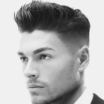 Mens Slicked Hair Shaved Side Frisuren Herrenhaar Herrenfrisuren