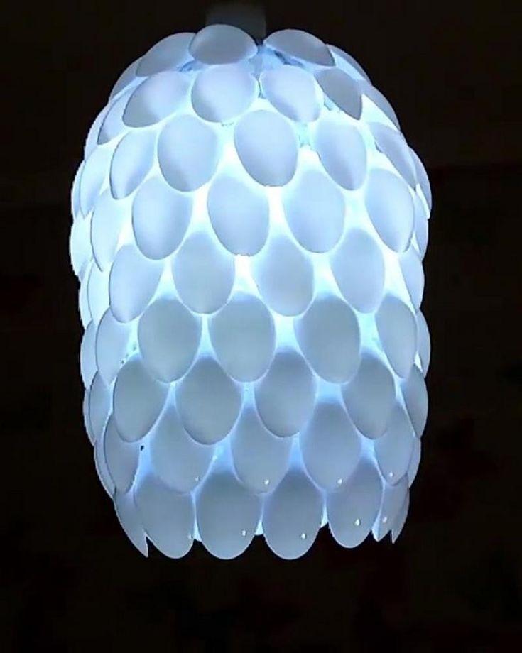 Plastic Spoon Lamp Tutorial