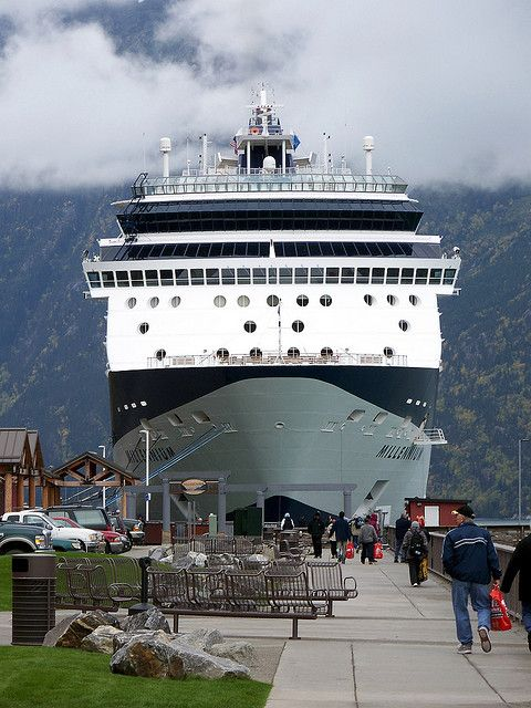 Celebrity Cruise Lines Ship Millennium in Skagway, Alaska