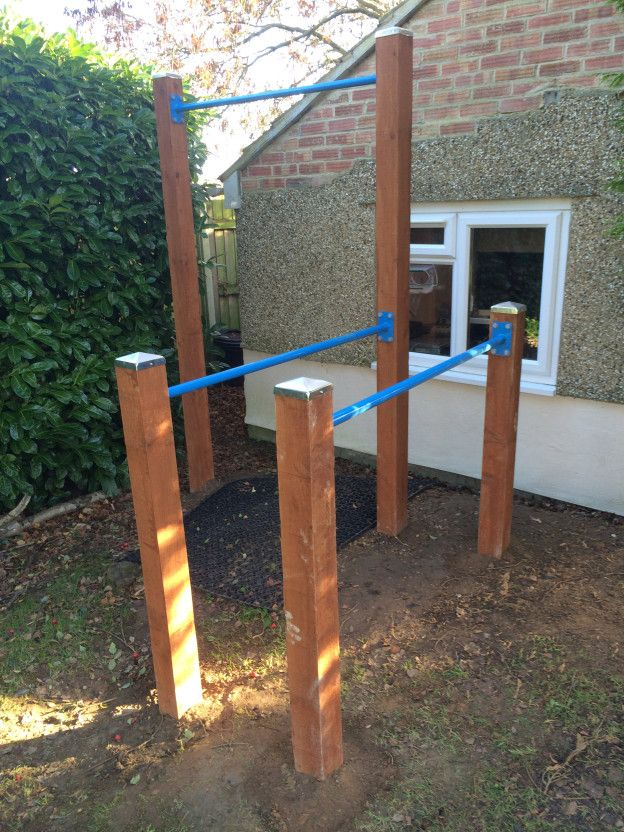 Backyard Gymnastics Bars : Outdoor gym, How to build and Gym on Pinterest