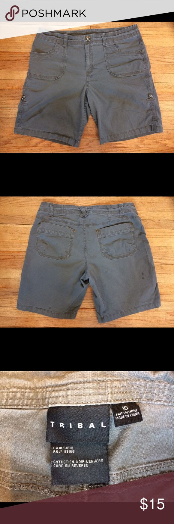Tribal brand size 10 olive green shorts Olive green size 10 Tribal shorts. Excellent used condition. Smoke free home, reasonable offers considered. Tribal Shorts