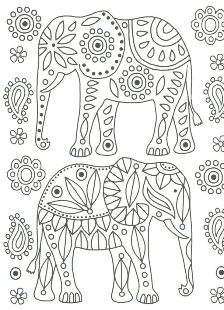 elefanten ausmalbilder mit bildern  mandala malvorlagen