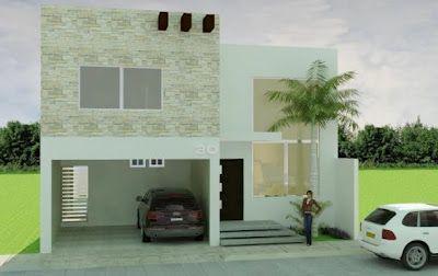 Algo asi pero con ventana en el cuarto mas grande y el techo del garage puede ser balcón o con maderas espaciadas