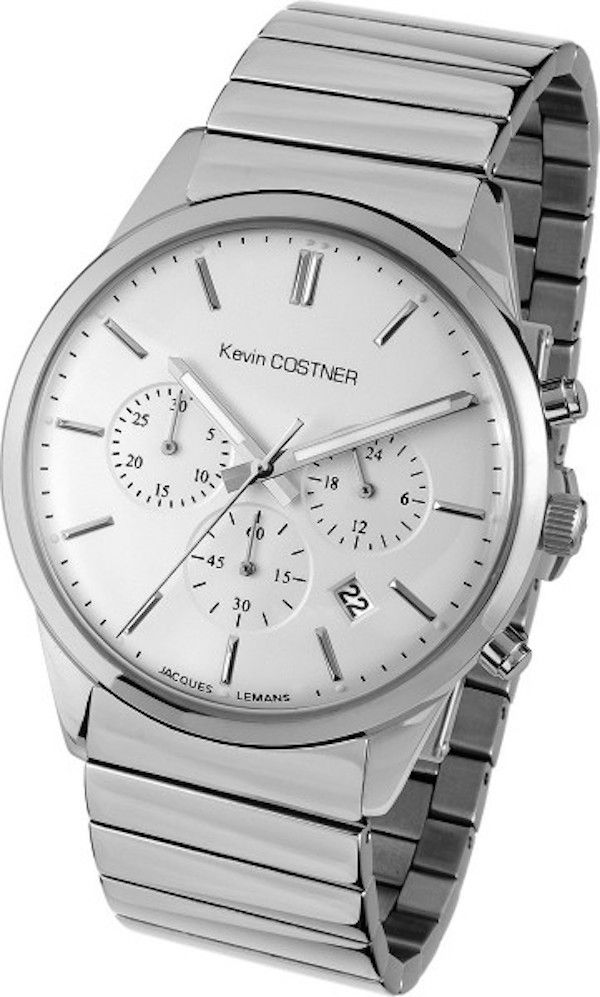 Jacques Lemans KC-103D Men's Watch Chronograph by Kevin Costner With Stainless Steel Band