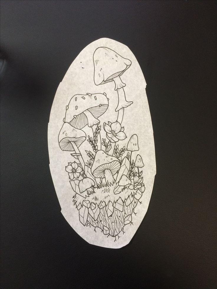 tattoo design mushrooms crystals flowers – Karly Moss