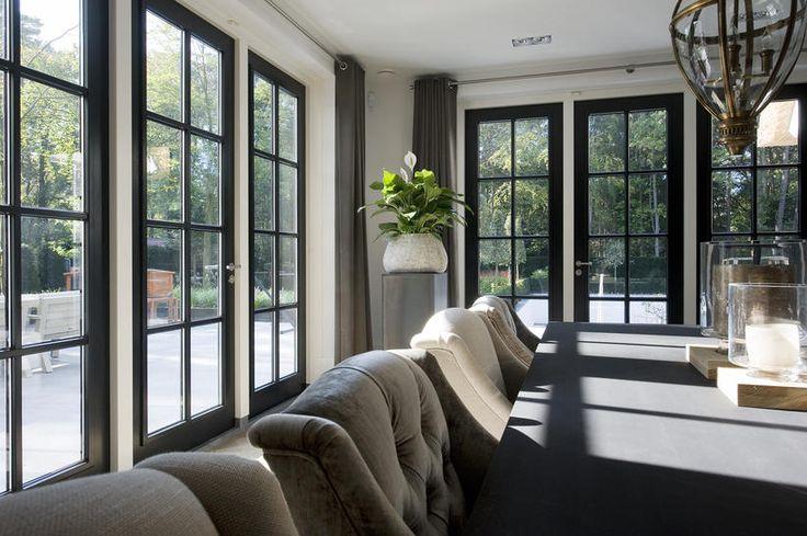 Interieur rietgedekte villa Veluwe