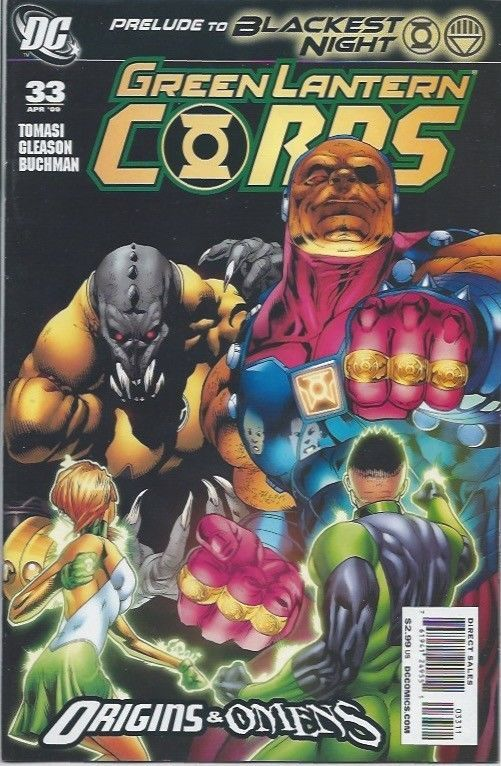 DC: Green Lantern Corps #33A (Prelude to Blackest Night) VF