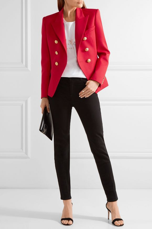 4408f88855 Double-breasted wool blazer   BALMAIN   Sale up to 70% off   THE OUTNET