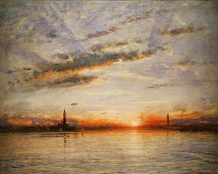 Coucher de soleil, Venise de Albert Goodwin (1845-1932, United Kingdom)