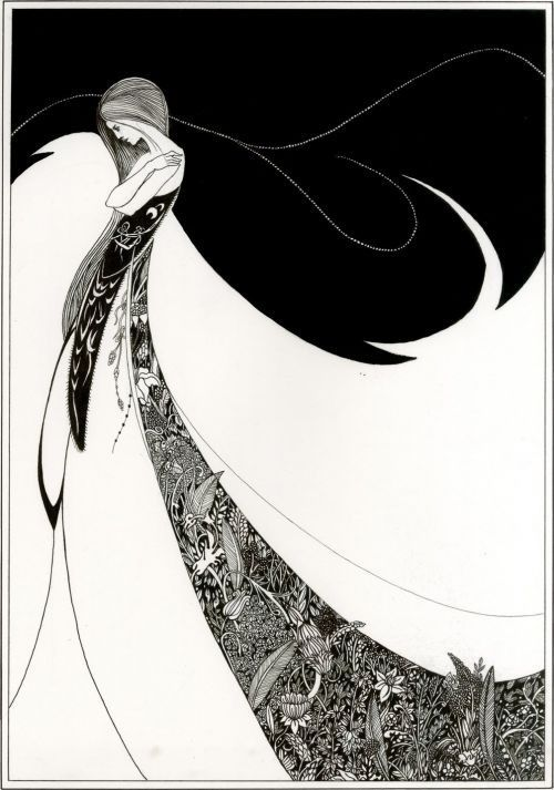 Gayle, ink drawing by Aubrey Beardsley.