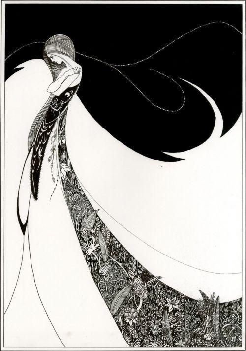 Gayle, ink drawing by Aubrey Beardsley.