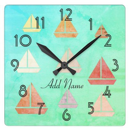 Nautical Sailing Boats Sailor Beach Wall  Clock - baby gifts child new born gift idea diy cyo special unique design