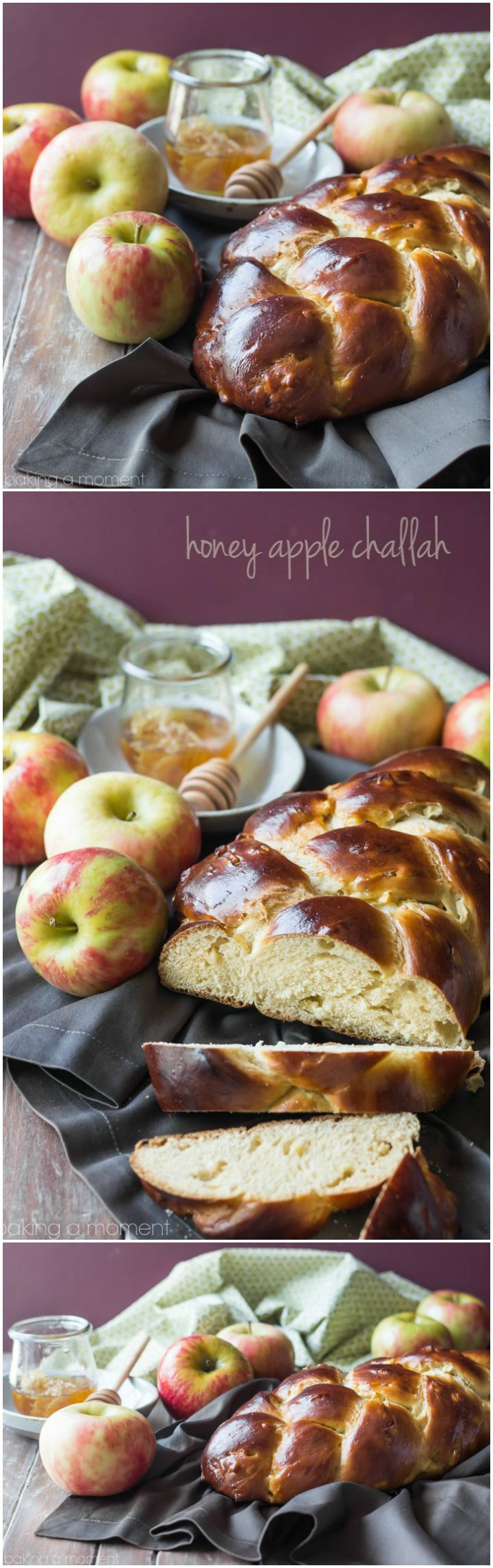 Honey Apple Challah- start off a sweet New Year with this slightly sweet, moist, and egg-y bread recipe.