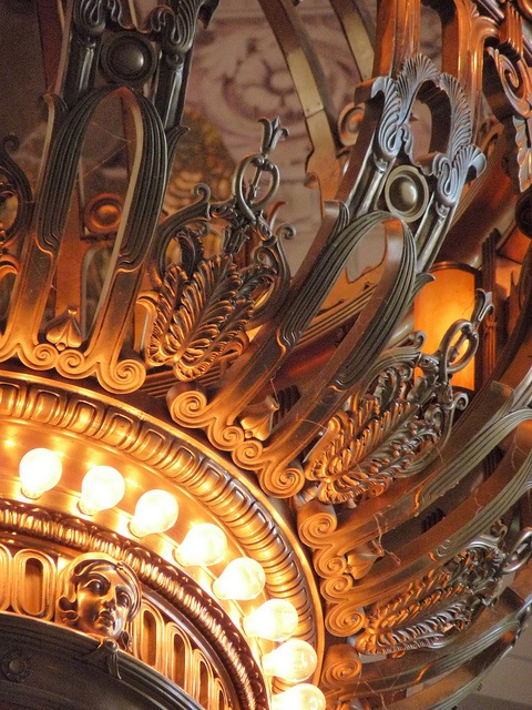 close up: chandelier at the Washington State Capitol, Olympia