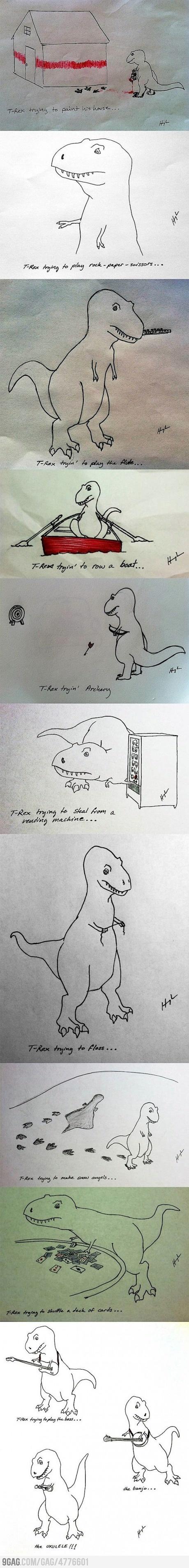 Poor T-Rex... not anymore!