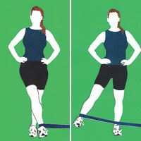 Strengthening for knee pain - Side Swing: Anchor band on left side at floor height and loop band around right ankle. Balancing on left foot (hold on to something if needed), raise right leg out to side; lower.