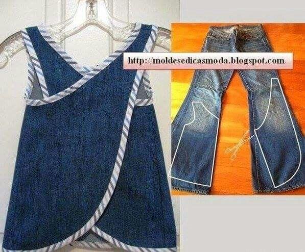 Möbius apron with jeans