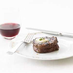 Peppered Beef Tenderloin with Roasted Garlic-Herb Butter