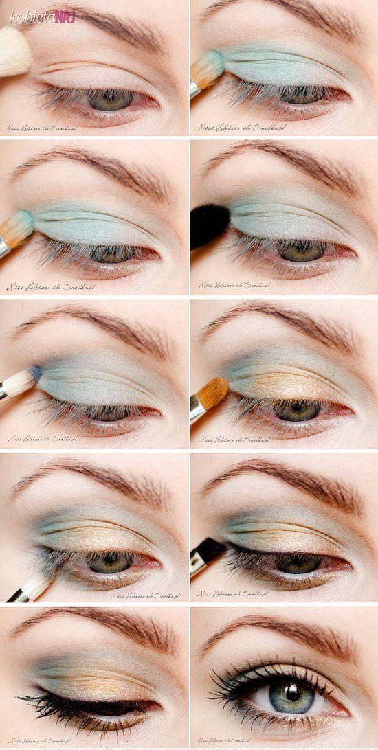 Boskie błękitno - złote oko - Instrukcja krok po kroku!!!