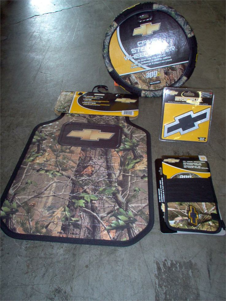 camo logos | Chevy Realtree Camo 5pc. Truck Accessory Set #1564R03, 6258R03 ...