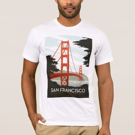San Francisco, CA - Golden Gate Bridge T-Shirt - click to get yours right now!