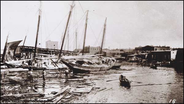 Welcome to #Florida hurricane season! Here's Pensacola after the hurricane in July 1916..- http://swampysflorida.com/?p=10333