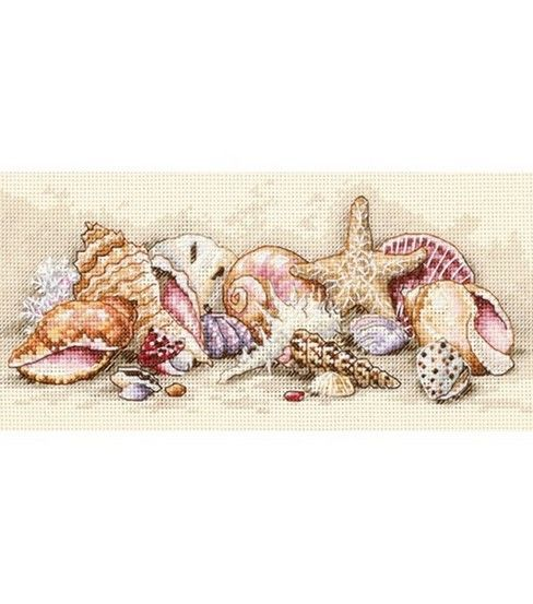 Kit includes: 18ct aida,e embroidery thread,eeneedle and chart witheinstructions Finished Size: 8inches x 4inches (20 x 10 cm) Gold Collection - Cross Stitch Designed By Todd Trainer As if tossed up b