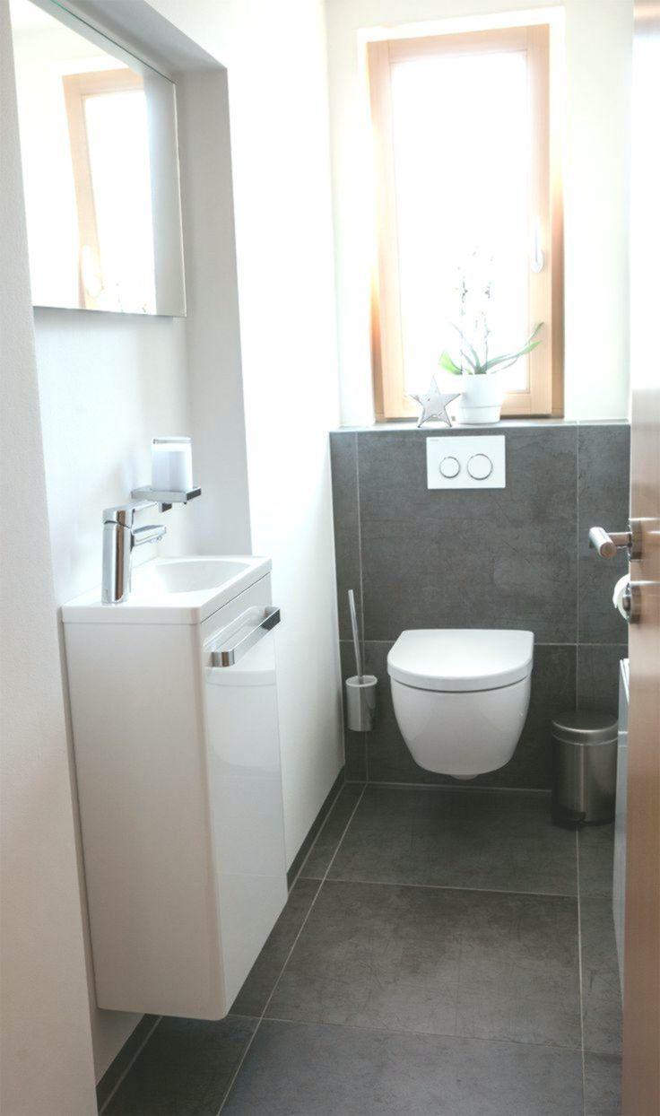 Fliesen Gäste -WC  Schwarze Bodenfliesen für moderne Gäste-WCs