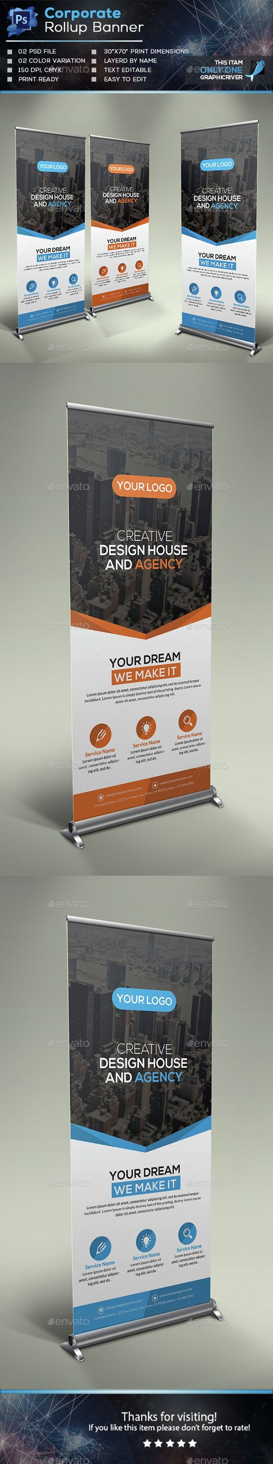 Corporate Roll-up Banner Template PSD. Download here: http://graphicriver.net/item/corporate-rollup-banner/15037761?ref=ksioks: