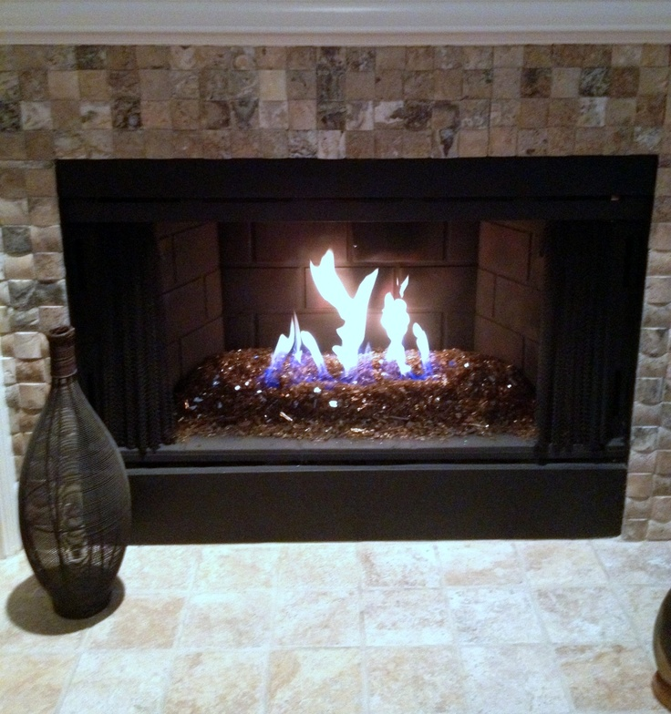 Fire glass no more fake logs decor pinterest for Artificial logs for decoration