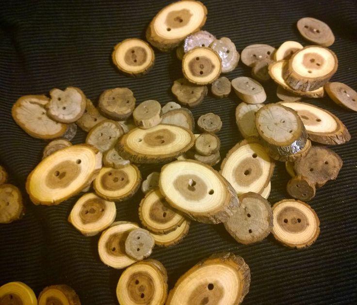 пуговицы из дерева натуральное дерево Акация, дуб, ясень