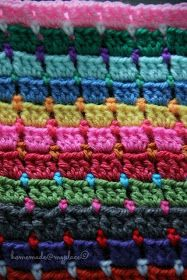 homemade@myplace: Block Stitch Afghan : the way I do it !!!! Easy tutorial with lots of pictures