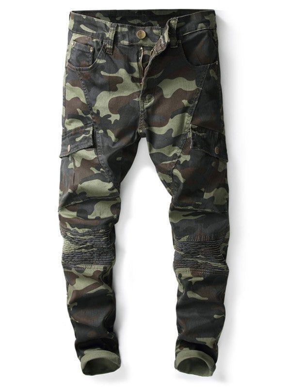 Slim Fit Camouflage Print Patch Decorated Jeans - ACU CAMOUFLAGE 38   slimjeansformenpants   slim jeans for men in 2018   Pinterest   Jeans, Slim  jeans and ... b7d1cb510016