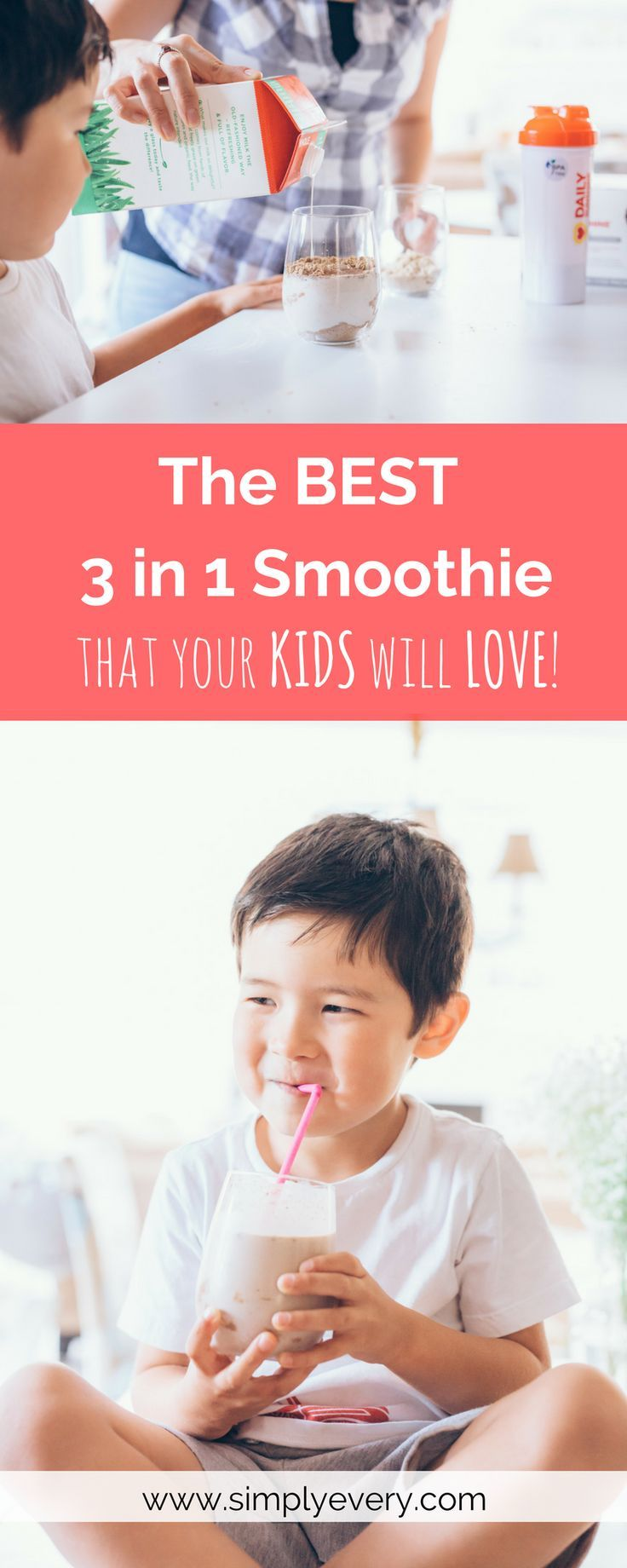 The BEST 3-in-1 Smoothie that Your Kids will LOVE!, kids food, food for kids, kids snack, smoothie, good snacks, plant based snacks, eat healthy, healthy snacks