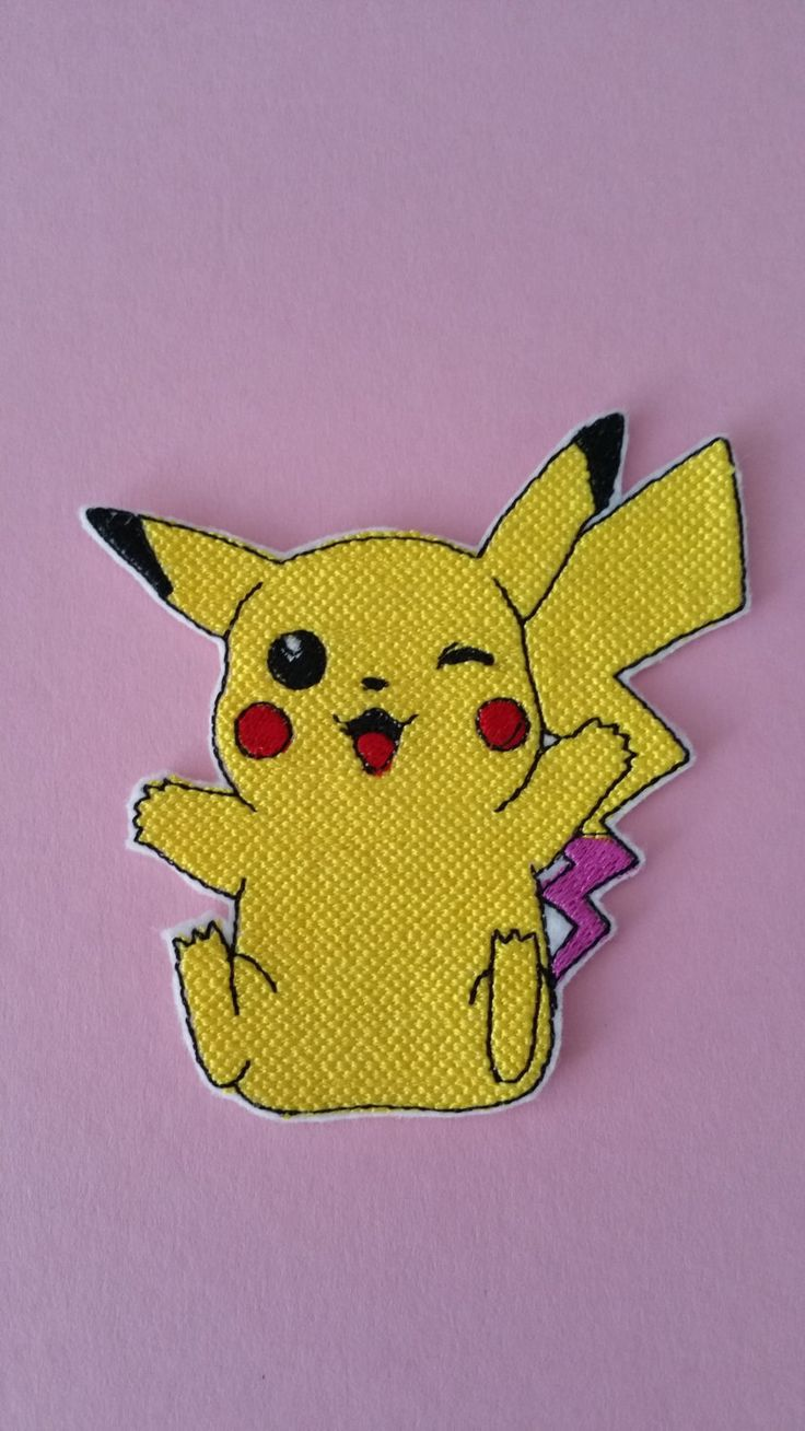 Pokemon character iron on patch Pokemon applique Pokemon embroidery (5.50 USD) by EmbroideryPatchLove